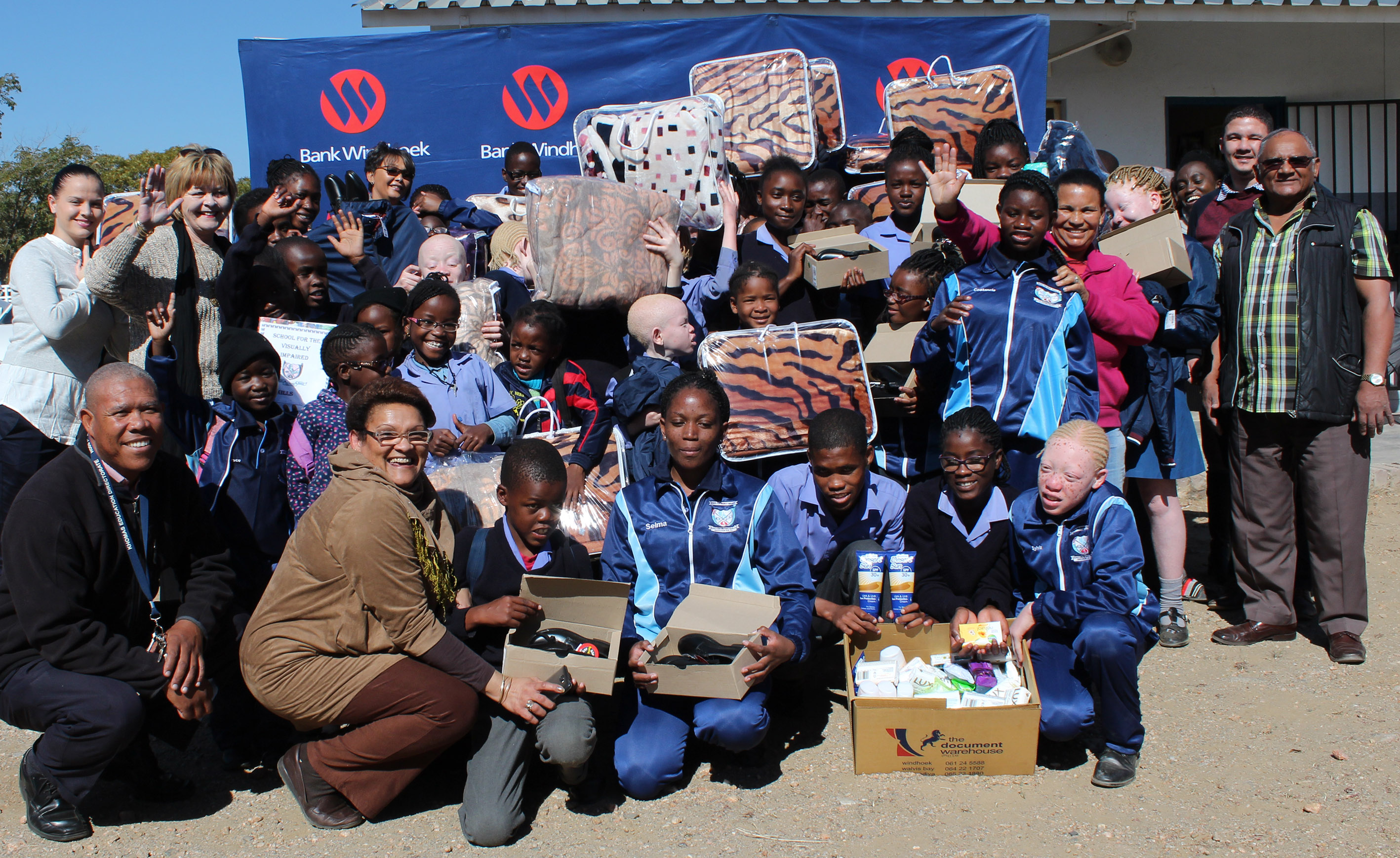 Bank Windhoek staff donate to School for Visually Impaired