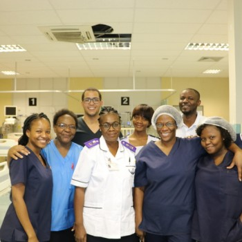 Hannely Doeses and her Team at Windhoek Central Hospital ICU