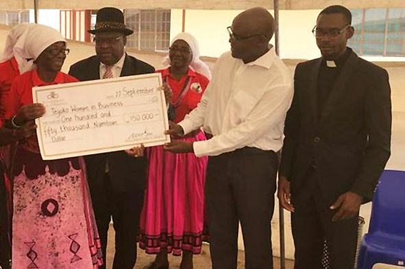 Development Bank of Namibia donates for the construction of a fish dam
