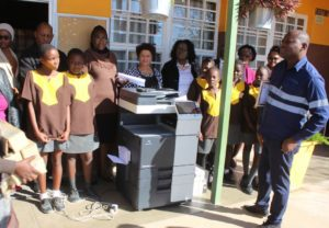 Cenored donates photocopy machine to Karundu Primary School