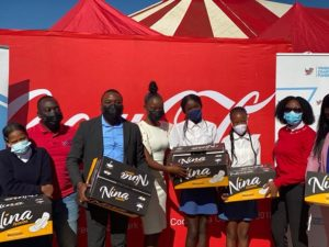 Coca-Cola Beverages Africa Group with their partner Windhoek Charity Launches the Period drive at Groot Aub Junior Secondary School 31st March 2021