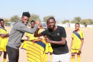 Junias donates uniforms to Legends FC